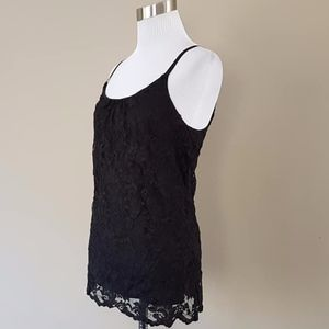 Bobeau Pullover Lacy Chemise Slip Dress Small